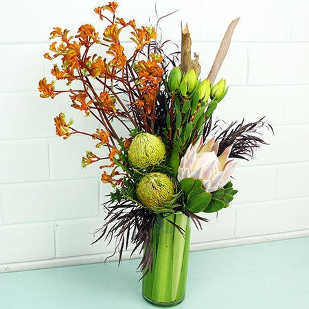 Tall Modern Native Vase Arrangement