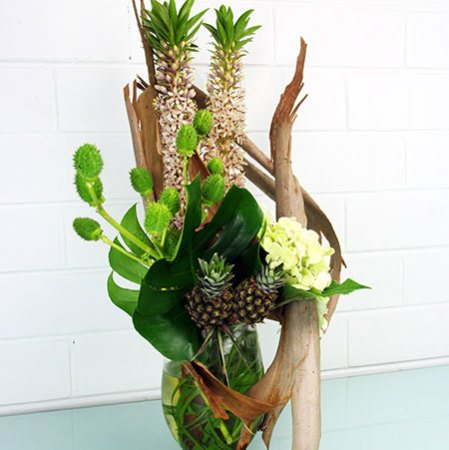 Tall Tropical Vase Arrangement