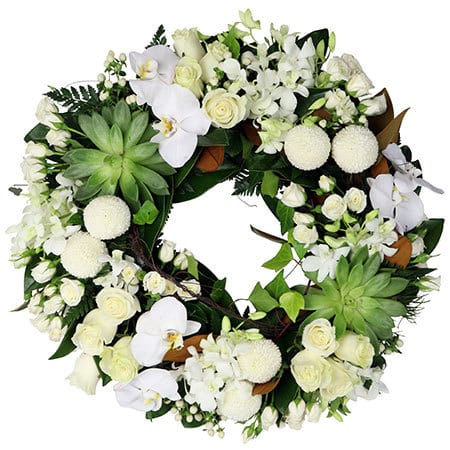 Tropical Funeral Eternity Wreath Delivered Sydney
