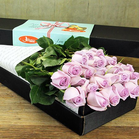 Two Dozen Long Stem Roses (Blue Moon) - Sydney Only