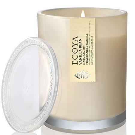 Vanilla Bean Ecoya Soy Wax Candle (55 hr burn)