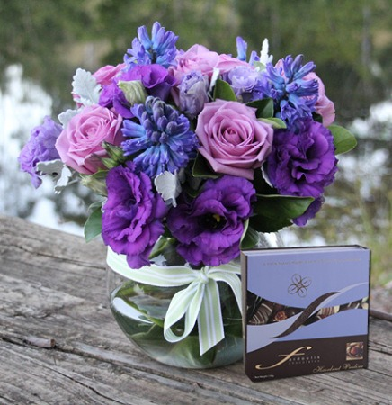 Violet Blooms & Hazelnut Pralines