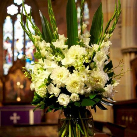 White Alter Flower Arrangement