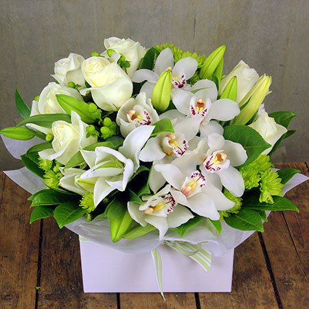 White Orchid Box