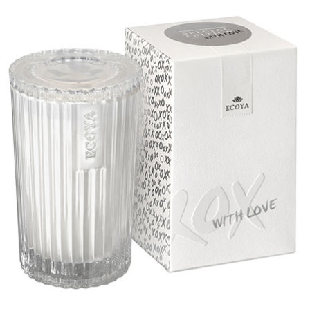 White Musk & Warm Vanilla `With Love` Ecoya Candle (25hr burn)