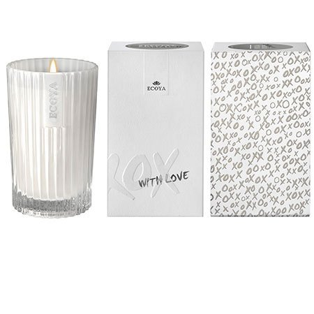 White Musk & Warm Vanilla `With Love` Candle