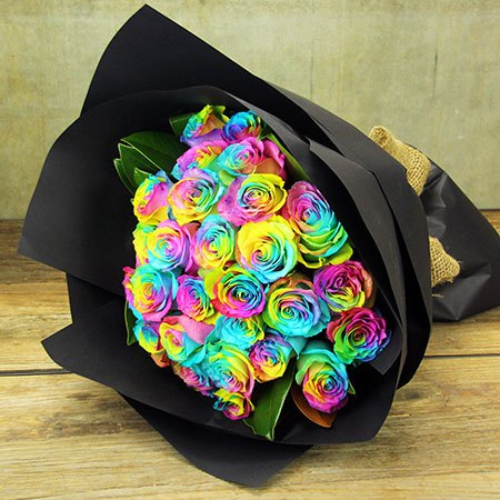 Willy Wonka Rainbow Roses - Grand (Sydney Only)