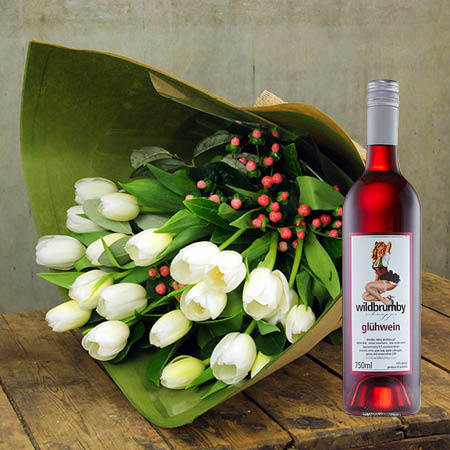 Winter Tulips and Wild Brumby Wine (Sydney Only)