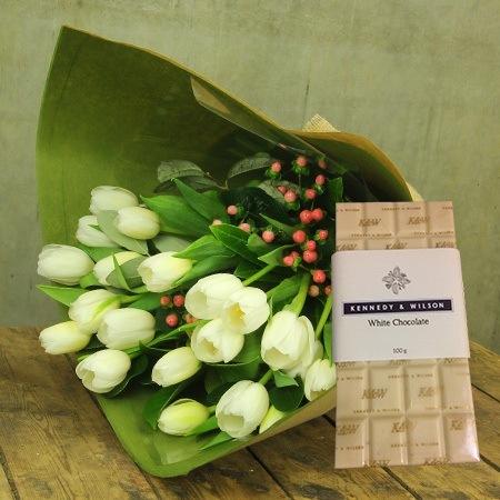 Winter White Tulip & White Chocolate