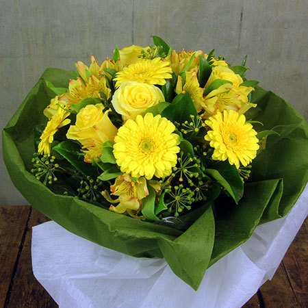 Yellow Sympathy Posy