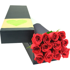 12 Long Stem Red Roses (Sydney Melbourne Perth Only)