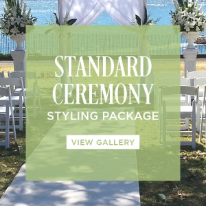 Wedding ceremony styling package standard for Au jardin wedding package