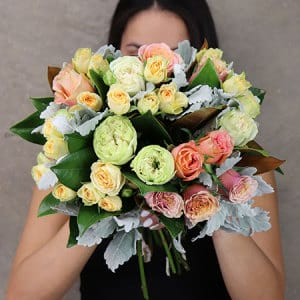 Antique Rose Posy