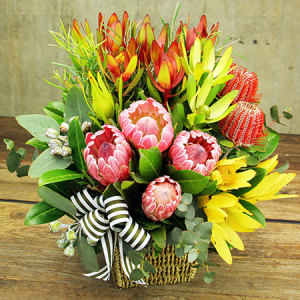 Australiana Flower Basket with Free Delivery