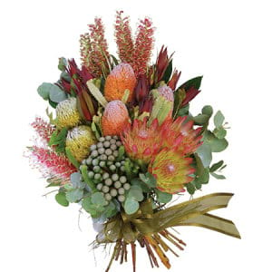 Beautiful Native Floral Sheaf of flowers for funerals in Sydney