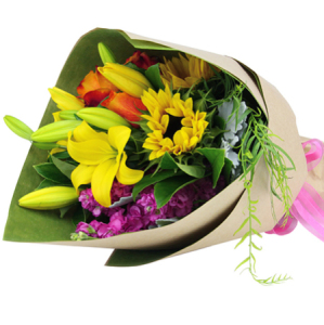 Bright Light Colourful Xmas Bouquet Delivered in Sydney