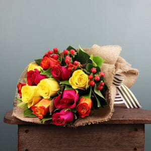 Bright Spring Rose Posy