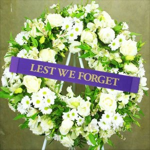 Classic White Anzac Day Wreath