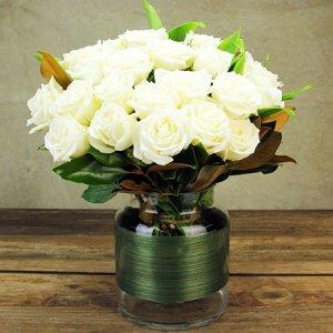 Classic  White Rose Vase