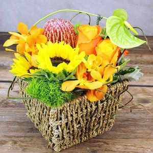 Contemporary Bright Basket