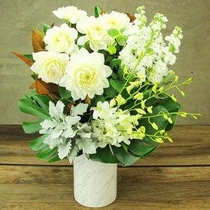 Creamy White Delight Flowers Delivered