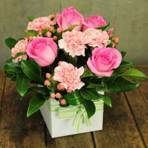 Dainty Pink Flower Box
