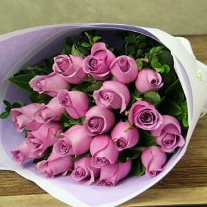Dusty Pink Rose Bouquet Delivered