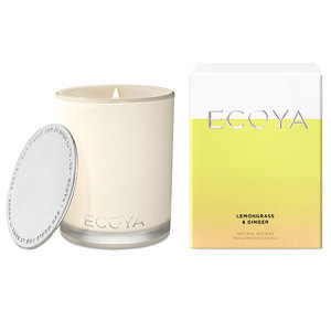ECOYA Lemon Grass and Ginger Candle 80hr