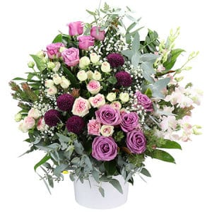 Elegant Pink Chapel Arrangement by Sydney's Most Experienced Funeral Florist