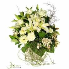Elegant White Pot Arrangement