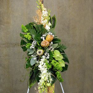 Elongated Funeral Floral Tribute