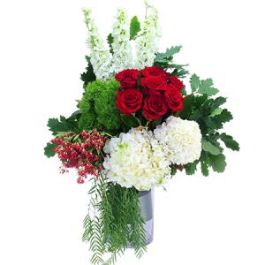 Festive Splendour Stunning Christmas Flower Arrangement in Vase Delivered in Sydney