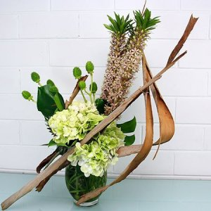 Fresh White & Green Vase