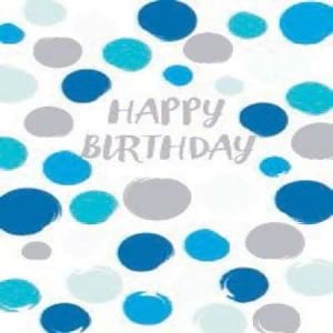 Gift Card Happy Birthday Blue Spots