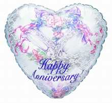 Happy Anniversary - Heart Balloon