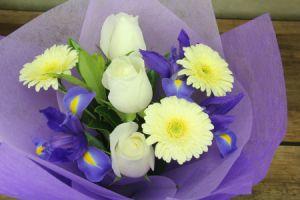 HOS-BLUEBOU - Mixed Blue Bouquet