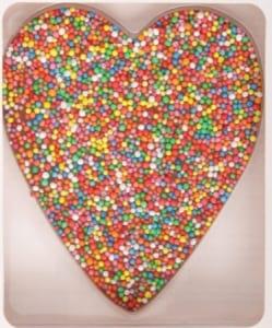 HOS-FRECKLECHHEART - Freckle Milk Chocolate Love Heart