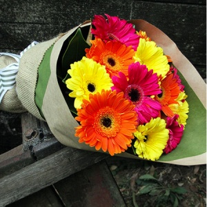 Joyful Gerberas With FREE Ecoya Candle