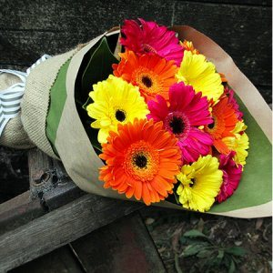 Joyful Gerbera Bouquet