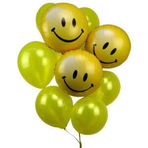 Smiley Face Balloon Bouquet Flowers For Everyone