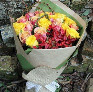 Lady Marmalade Rose Bouquet
