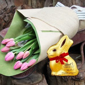 Easter gift ideas flowers and chocolate eggs delivered flowers le petit tulips and bunny syd melb perth negle Gallery