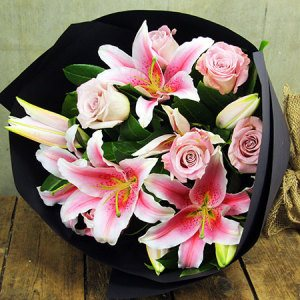 Lily and the Rose Bouquet Brisbane Delivered
