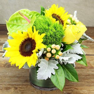 Little Vase of Sunshine Flowers Delivered