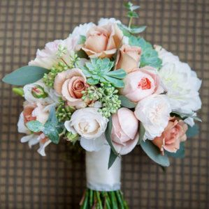 Medium Loose Bridal Bouquet with David Austin Roses