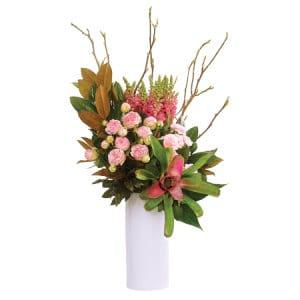 Luscious Pink Tropical Vase