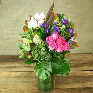 Luxury Mixed Rose Vase Delivered