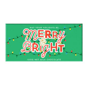 Merry and Bright Chocolate Bar