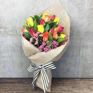 Mixed Rose Posy Melbourne