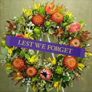 Native Floral Anzac Day Wreath Delivered